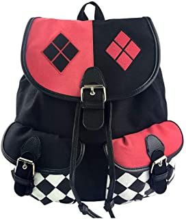 Suicide Squad Harley Quinn Canvas Dark Bag Bundle Mochila Shoulder Canvas Mochila para Viajes, Viaje, Uso en el Campus (Escuadrón Suicida)