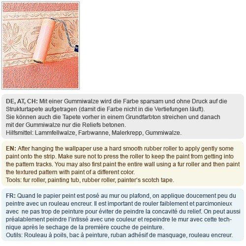 Struktur Vliestapete Streichbar EDEM 350-60 GROSSROLLE zum Überstreichen dekorative Struktur tapete weiss | 26,50 qm - 2