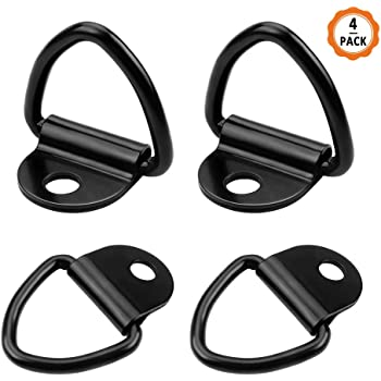 POKIENE 8PCS Tie Down Anchors V Rings Hook Stainless Steel Lashing Ring Hook for Trailers 63mm Load Securing,82 Heavy Machinery