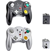 VTone Wireless Gamecube Controller, 2 Pieces 2.4G Wireless Classic Gamepad with Receiver Adapter for Wii Gamecube NGC GC (... photo