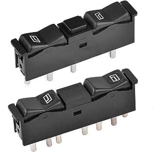 beler 2pcs Front Left & Right Door Power Window Control Switch for Mercedes Benz W123 W201 W126 0008208210 0008208110