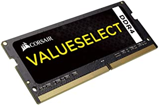 Corsair CMSO16GX4M1A2133C15 Value 16 GB (1 x 16 GB) DDR4 2133 MHz Mainstream SODIMM Notebook minnesmodul – svart 16 GB (1 ...