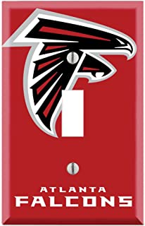 Single Toggle Wall Switch Cover Plate Decor Wallplate - Falcons