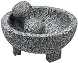 Imusa MEXI-2011M Molcajete de granito, 20.32 cm, gris, Gris, 15.24 cm, 1