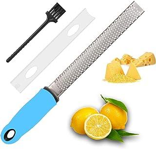 YIBIDINAY Citrus Zester & Cheese Grater-Parmesan Cheese, Lemon, Ginger, Garlic, Nutmeg, Vegetables, Fruits-Razor-Sharp Sta...