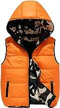 Mallimoda Boys' Lightweight Hooded Puffer Down Vest Jacket Waistcoat Double Side Wear