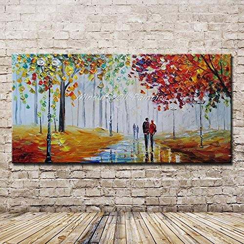 MAOYYM1 ölgemälde groß auf leinwand handgemalt Acryl Gemälde Romantischer Abend | Handgemalte Leinwand Bilder | Wandbild Acrylgemälde | Moderne Kunst | Leinwand | Unikat(Kein Rahmen, Nur Leinwand)