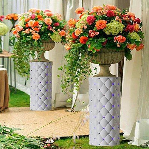"Efavormart 4 Pillars/Set Decorative Wedding Columns Pillars 30"" tall with LED lights"