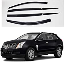 AUTOCLOVER Dark Smoke Side Window Vent Visor 6 Piece Set for Cadillac SRX 2010 2011 2012 2013 2014 2015 2016 / Safe RAIN Out-Channel Guard Deflector