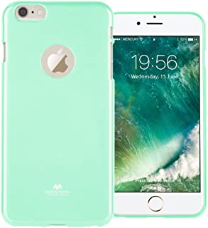GOOSPERY Marlang Marlang iPhone 6 Plus/6S Plus Case - Mint Green, Free Screen Protector [Slim Fit] TPU Case [Flexible] Pearl Jelly [Protection] Bumper Cover for iPhone6SPlus, IP6P-JEL/SP-MNT