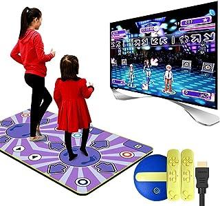 Wireless Double Dance Mat,wear Resistant Foldable Dance Pad Children Dance Revolution Musical Mat HD TV Computer Dual-use ...
