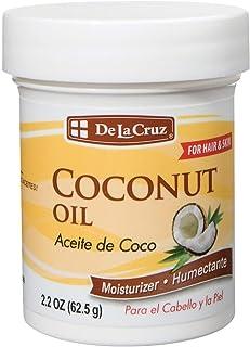 De La Cruz Coconut Oil, No Parabens or Artificial Colors, Packed in USA 2.2 OZ