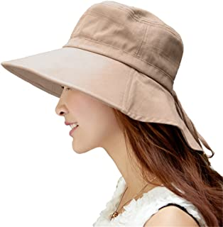 Siggi Womens Sun Hat Summer Wide Brim Packable Cotton Ladies Sunhat Uv UPF Fashionable Caps and Hats for Girl