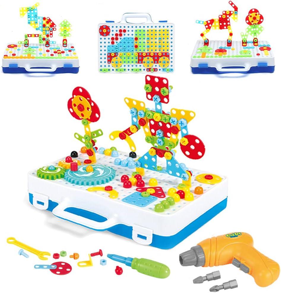 H 2021 model HIBOBI 287 pcs Creative Mosaic Dril Electric Superior Puzzle Kit Drill