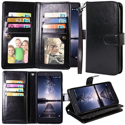 Harryshell ZTE Zmax Pro Case, ZTE Carry Case, 12 Card Slot PU Leather...