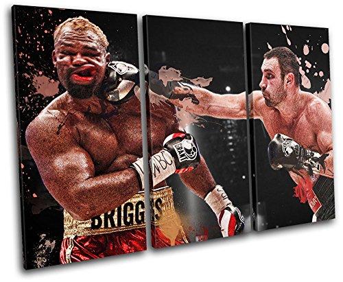 Bold Bloc Design - Vitali Klitschko Boxing Sports - 150x100cm Leinwand Kunstdruck Box gerahmte Bild Wand hängen - handgefertigt In Großbritannien - gerahmt und bereit zum Aufhängen - Canvas Art Print