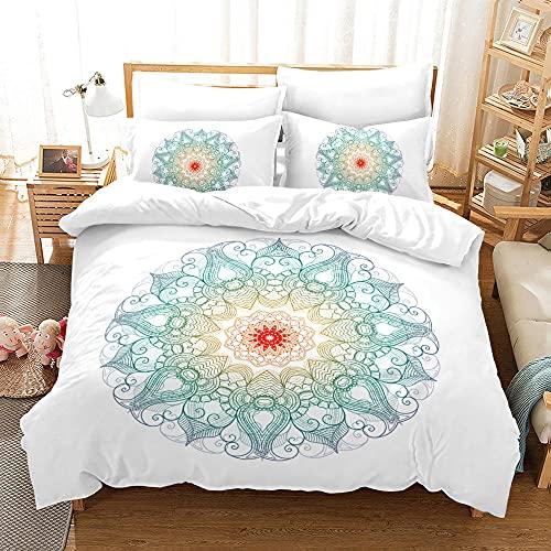 Bedclothes-Blanket Juego sabanas de Cama 150,Conjunto de Ropa de Cama de Tres Piezas de impresión Digital Floral.-6_180 * 210