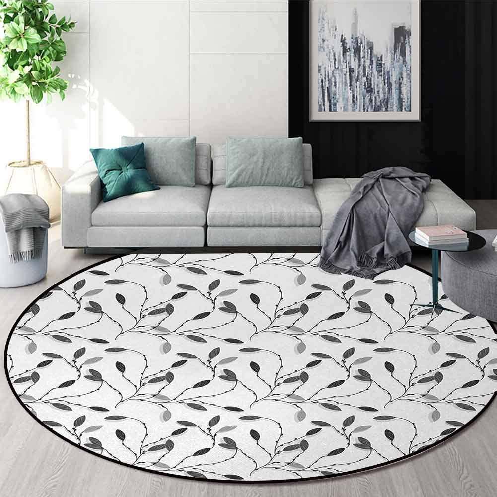 Grey Carpet Gray Round Area Rug Contemporary Fashionable Aut Graphic Limited price Fall of