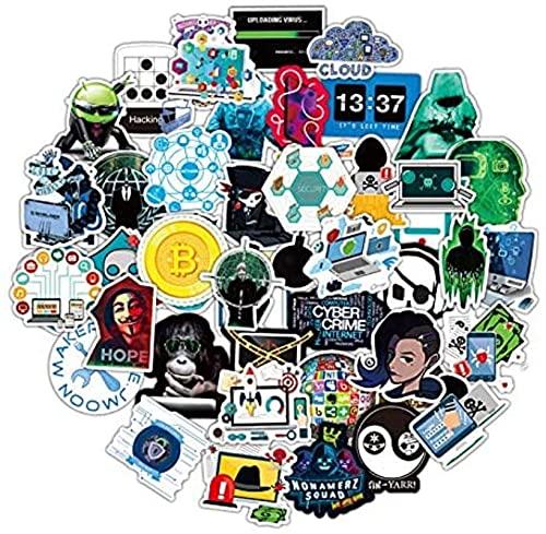 Earmeryy 50 Piezas Hacker Dark Web Series Graffiti Stickers PVC Pegatinas Impermeables