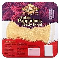 Patak's Plain Ready to Eat Pappadums (8 per pack) パタクの食べることが無地準備pappadums (パックあたり8 )