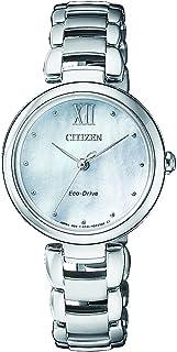 ساعة سيتيزن رسمية بعرض انالوج للنساء من الستانلس ستيل - EM0530-81D