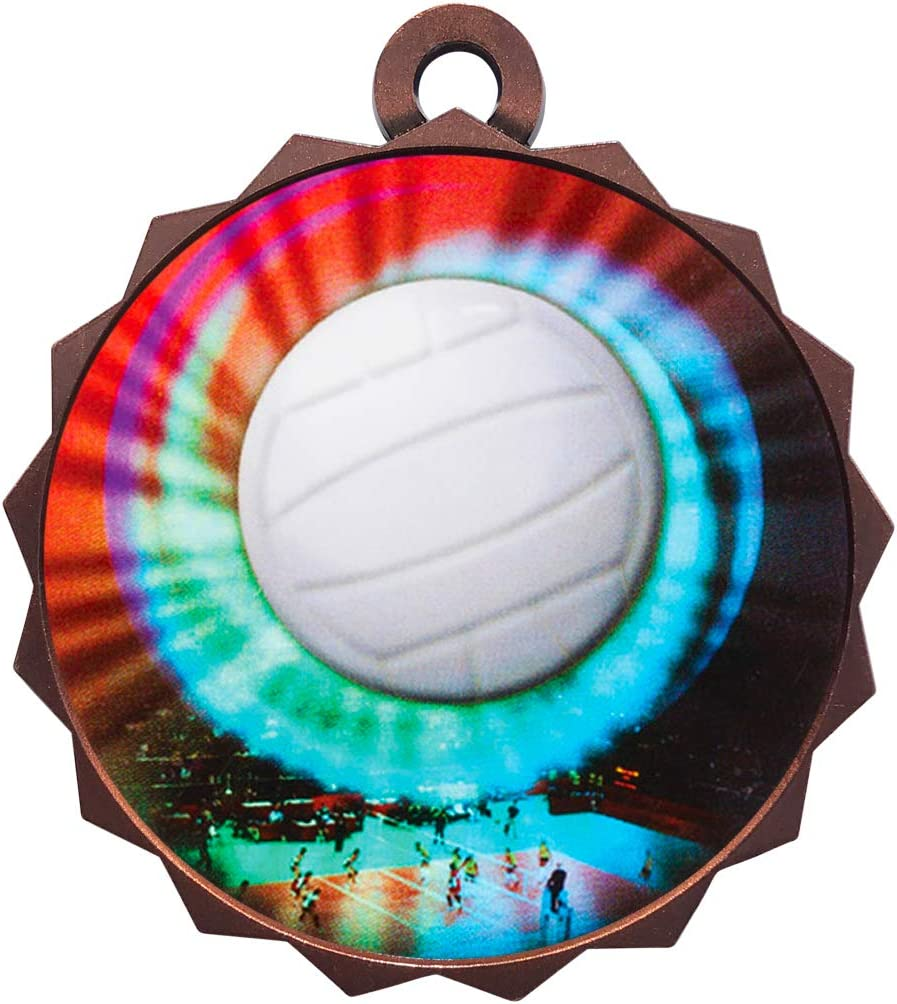 Express Medals 1 to 50 Packs Low price Ranking TOP11 Volleyball Bronze Awar Medal Trophy