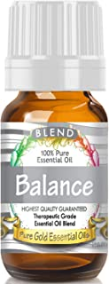 Pure Gold Balance Blend Essential Oil, 100% Natural & Undiluted, 10ml