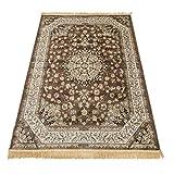 Teppich Klassisch, Keshan-Teppich, Rubinrot, 317 Braun Cm.200x290 braun