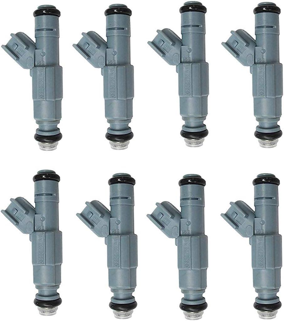 Unbrella 8pcs New Boston Mall 4 Nozzle Fuel for 2002-2007 Max 54% OFF Dodge Ra Injectors