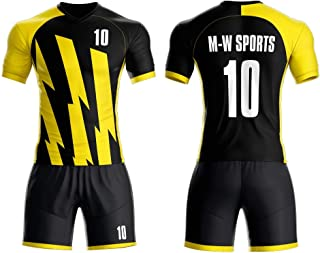 Custom Team Soccer Jersey Set Club Uniforms with Your Team Name and Number