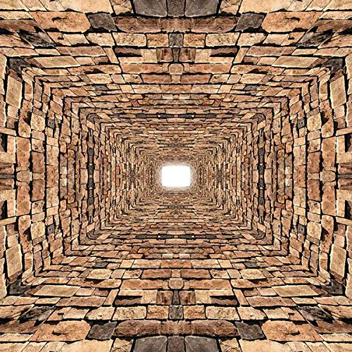 FORWALL Fototapete Vlies - Tapete Moderne Wanddeko 3D Steine Tunnel VEXXXL (416cm. x 254cm.) AMF2907VEXXXL Wandtapete Design Tapete Wohnzimmer Schlafzimmer