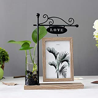 Art Street Rotating Love Photo Frame with Flower vase for Gifting - Valentine Day (4X6)