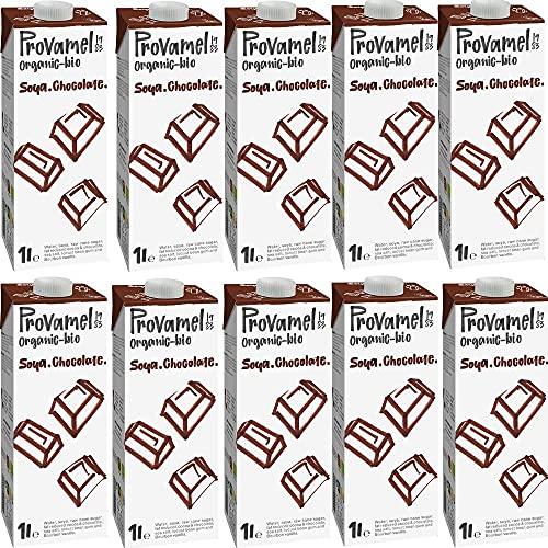 Provamel BE-BIO-01 - Bebida de soja orgánica, 10 unidades, chocolate, 10 x 1 l