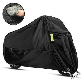 バイクカバー バイク車体カバー 300D 3L/XXLサイズ タオルと収納袋付き 雨/雪/日差し/強風に耐えられる