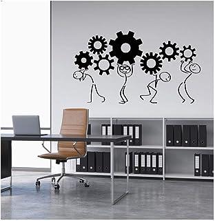 Adesivo Da Parete Applique Da Parete In Vinile Simpatico Cartone Animato Man Gear Home Office Wall Company Decorazione Da ...