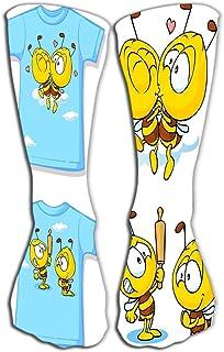 akingstore, Calcetines altos Novedad Calcetines largos de compresión para mujeres y niñas 19.7