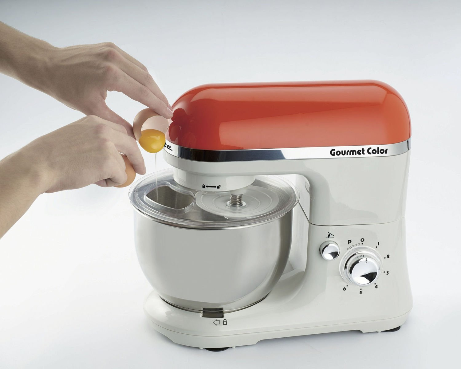 Ariete Gourmet Color 1000W 4L Naranja, Color blanco - Robot de cocina (4 L, Naranja, Blanco, Giratorio, Locked, Acero inoxidable, Acero inoxidable): Amazon.es: Hogar
