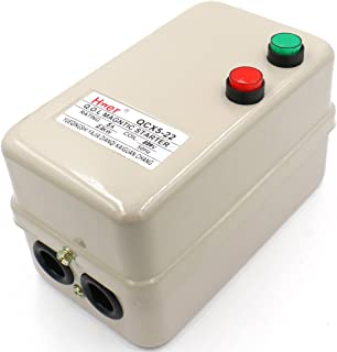 Baomain Magnetic Electric Motor Starter Control QCX5-22 AC 220V 3.2-5A 3HP 1.5KW 3 Phase