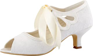 9f97fb84bfd3c Amazon.com: Mary Jane - Ivory / Pumps / Shoes: Clothing, Shoes & Jewelry