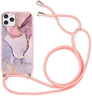 Pnakqil Case Compatible with Oppo A53(2020) 4G/A32 6.5 inch, Soft TPU Silicone Frosted Matte Adjustable Lanyard Strap Phon...
