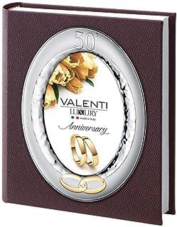 """Album Photo de 50 Anniversaire de Mariage D'or Couverture Photo Ovale """"13 X 18 by Argenti Valenti"""