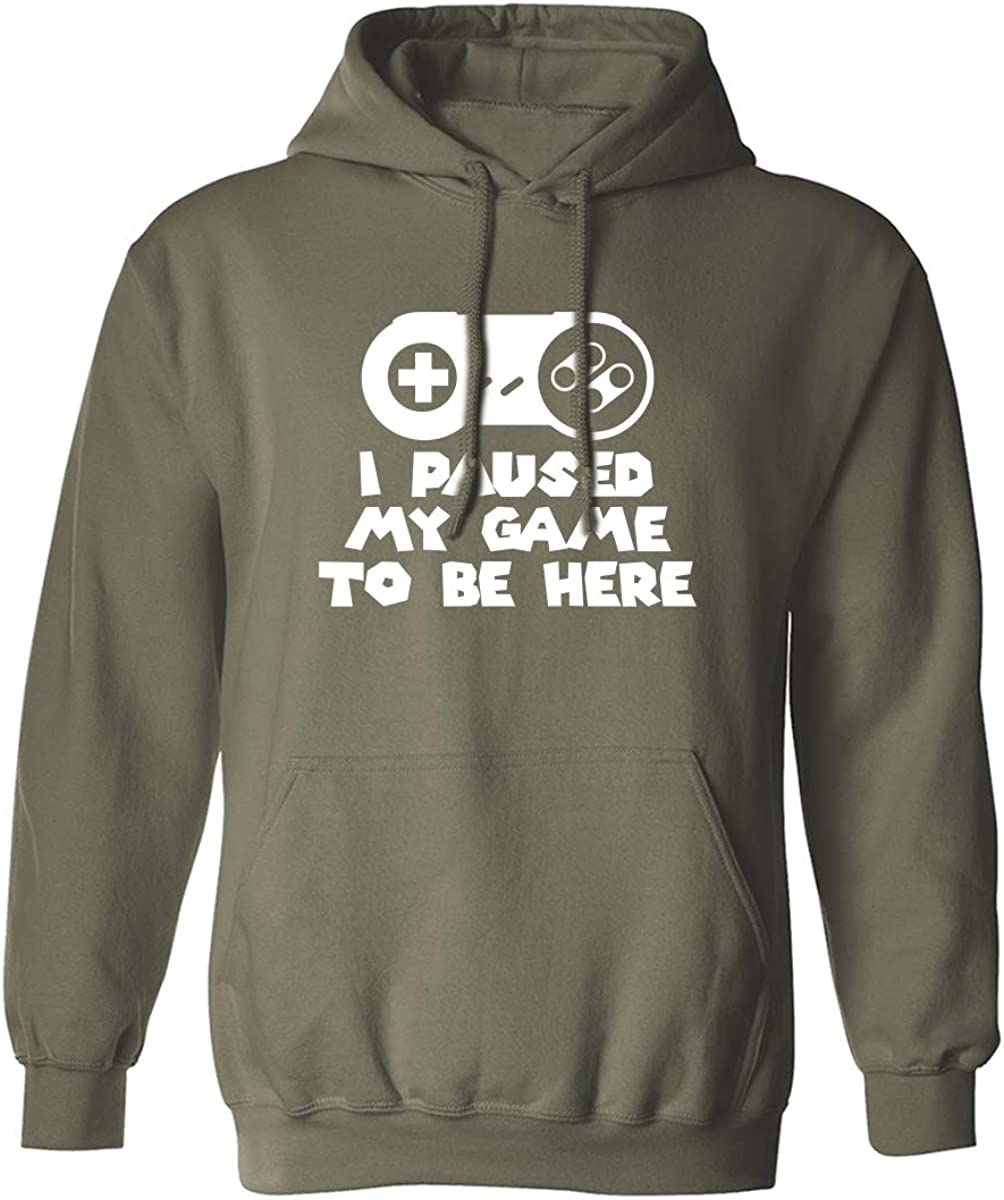 I Paused My Game To Be Here Adult Hooded Sweatshirt