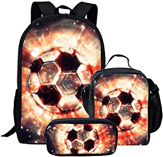 Chaqlin - Mochila para niños con diseño de balón de fútbol Americano Soccer-4(