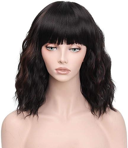 Perruques Perruques Perruques Européens Et Américains De La Mode Les Les dames Noir Qi Liu Hai Court Poire Fleur Cheveux Bouclés