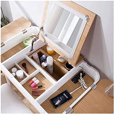 HHTD Bay Window Dressing Table Bedroom Multi-Function Net Red Dressing Table Small Mini Assembly Economy Tatami Dressing Tabl