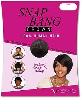 Vivica A Fox Snap Bang Crown Human Hair Extensions, Color 280, 0.9 Ounce
