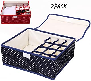RNXRBB Sujetador Ropa Interior Organizador De Cajones Ropa Interior Cajas De Almacenamiento Armarios Plegables Divisores para Sujetadores Calcetines Corbatas Bufandas Y Otros Accesorios 3 Set
