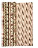 Clairefontaine Nature - Rollo de papel para regalo, 2 m [1 rollo - diseño aleatorio]