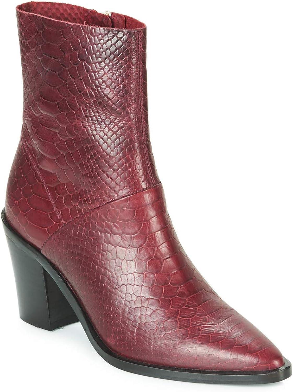 Bronx New Americana Low Stiefelletten Stiefel Damen Bordeaux Low Stiefel