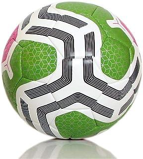 كرة قدم من H PRO مزودة ببلاستيك حراري عالي الجودة لكرة القدم مقاس 5 مضاد للانزلاق (وردي/أخضر)